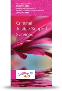 Criminal Justice Leaflet Cover
