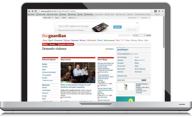 Online Guardian covers domestic violence