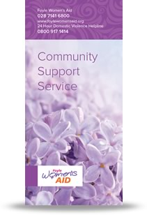 Foyle Women's Aid Community Support Leaflet Cover