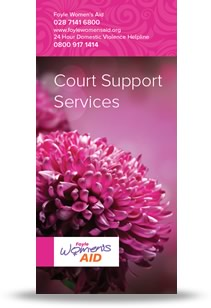 Foyle Women's Aid Court Support Leaflet Cover
